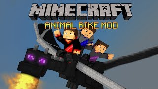 Minecraft: Animal Bikes Mod (Notch Bike, Pony Bike and More!) Mod Showcase
