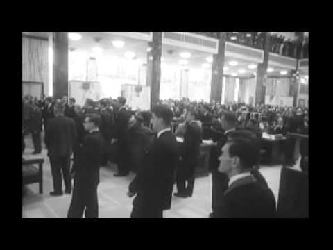Princess Margaret visits the Lloyd's building in 1958