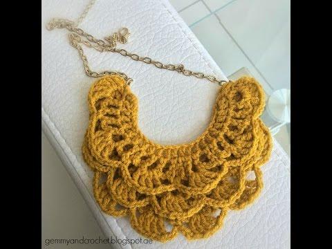Originales Modelos De Collares Tejidos A Crochet Youtube