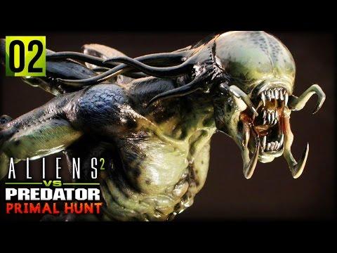 Aliens VS Predator 2 : Primal Hunt   A FULL GROWN PREDALIEN (Predalien Campaign Part 2)