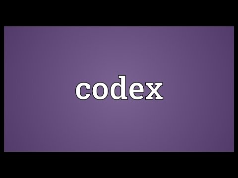 Codex Meaning