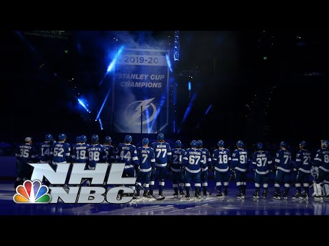 Tampa Bay Lightning pay tribute to heroes, reveal 2020 Stanley Cup banner | NBC Sports