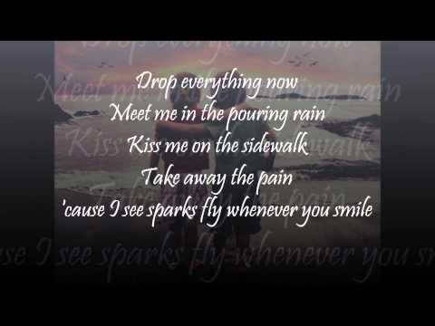 Julia Sheer & Tyler Ward - Sparks Fly with lyrics