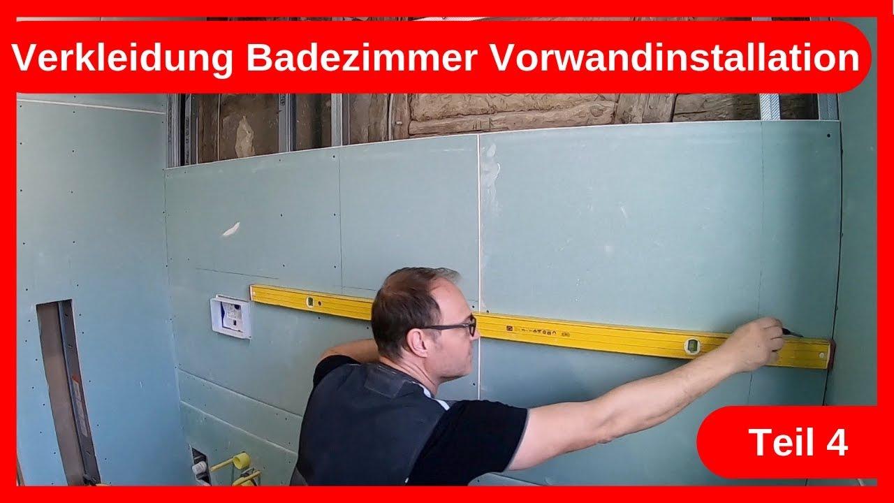 Vorwandinstallation Umbau Badezimmer im Altbau Teil 20 / Trockenbau    Altbausanierung DIY