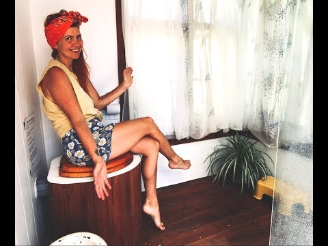 Compost toilet tour! DIY Semi flushing bucket toilets | Off Grid NZ