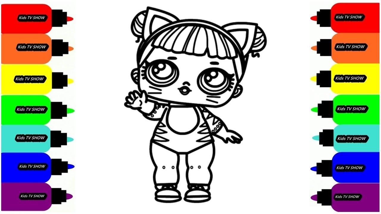 Рисуем Раскраски КУКОЛКА ЛОЛ Раскраски для детей - YouTube