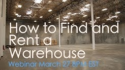 How To Find and Rent A Warehouse Webinar   and Current Events Soft Rant  March 27 PM