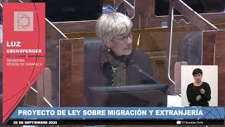 Nueva Ley de Extranjería y Migración sobre votaciones en sala senado 29 9 2020 Parte 1 de 2