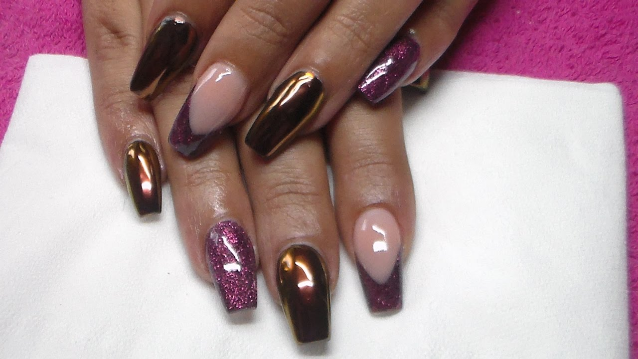 Burgundy Nails Designs Matte Glitter Sparkly Base Simple