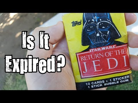 Is It Expired? - 34 Year Old Star Wars Return of the Jedi Trading Card Gum