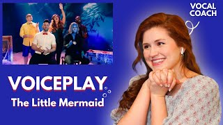 VOICEPLAY I The Little Mermaid Medley I Vocal Coach Reacts!