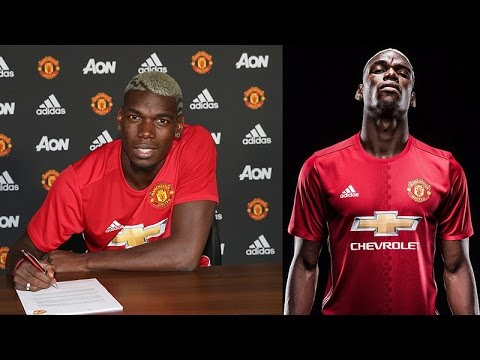 OFFICIAL PAUL POGBA SIGNS FOR MANCHESTER UNITED F.C.