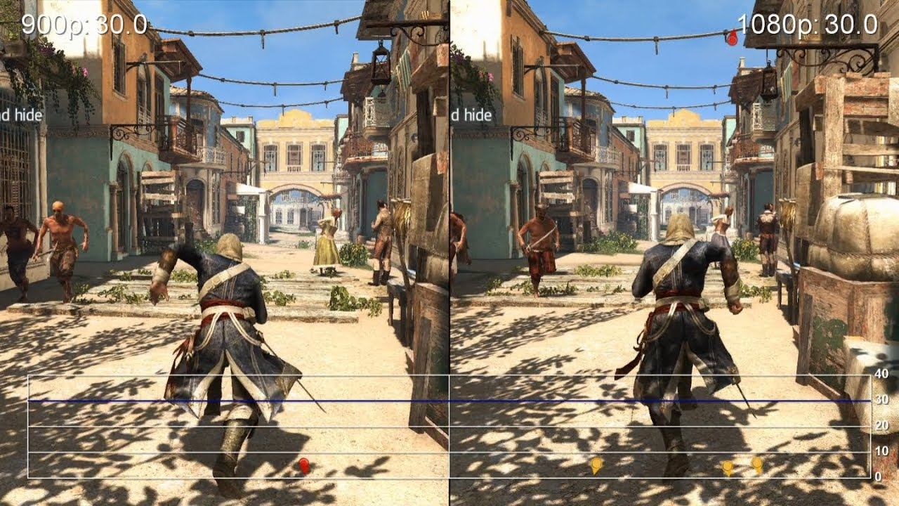 Assassin S Creed 4 Ps4 Launch Vs 1080p Patch Frame Rate Tests