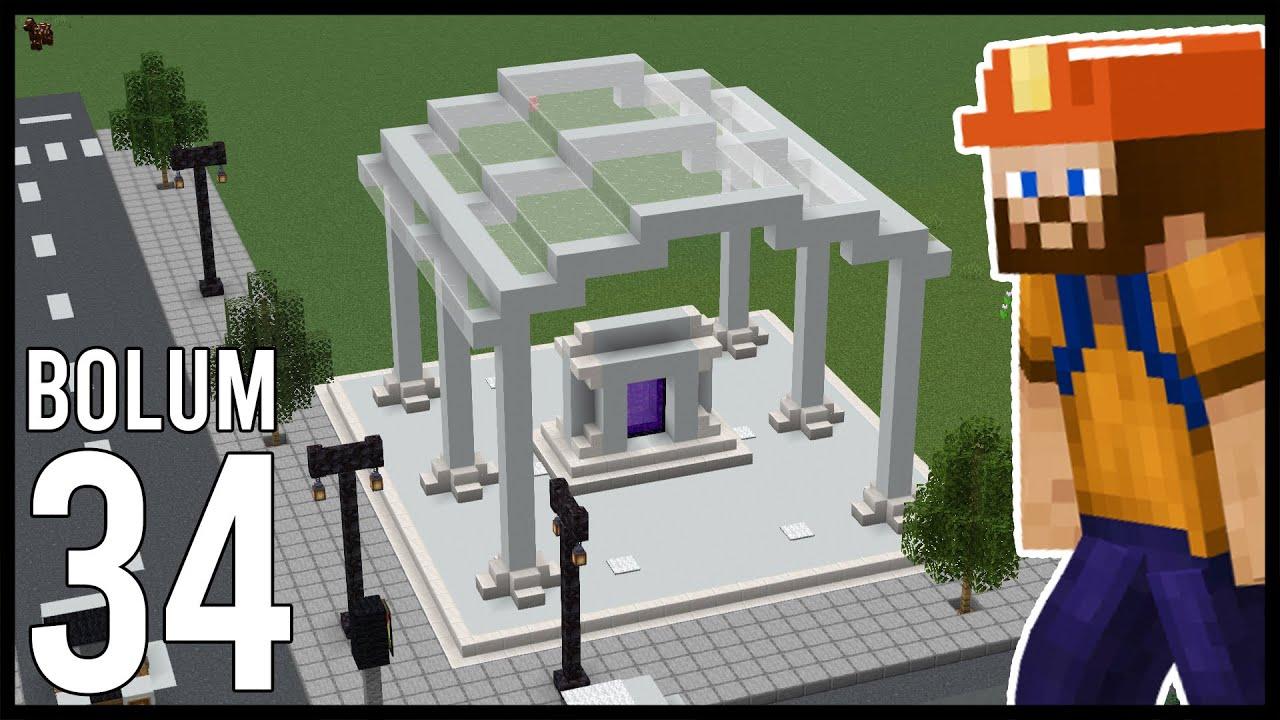 MODERN NETHER PORTAL! Minecraft: Modsuz Survival   S6 Bölüm 34