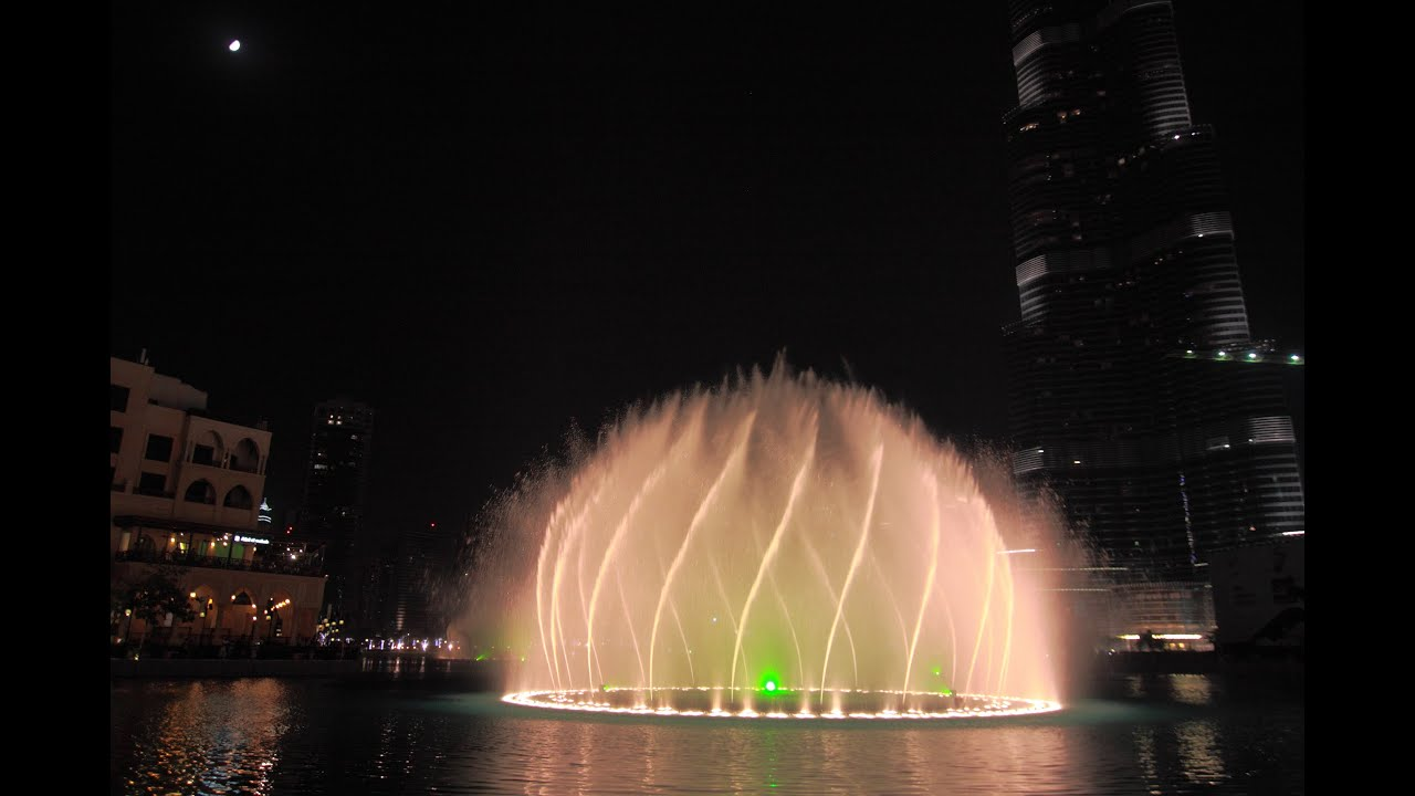 Dubai mall fountain show download history