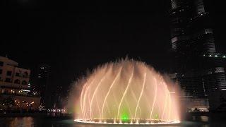 Dubai Water Fountains at Burj Khalifa / Dubai Mall (1080p FullHD)