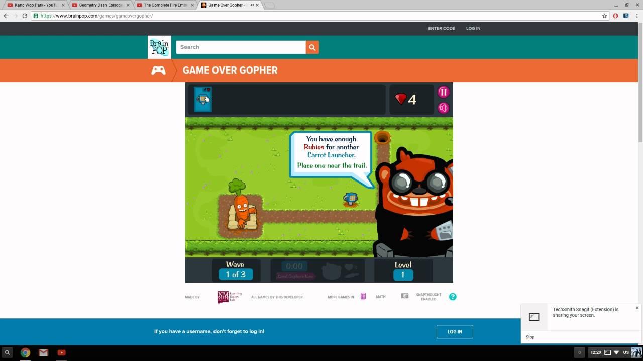 brainpop games game over gopher