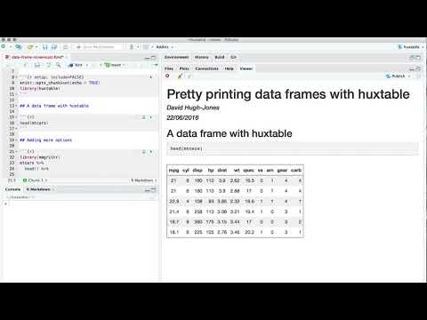 Prettyprinting data frames with huxtable