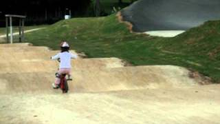 North harbour bmx track being riden by my just turned 4 yr old