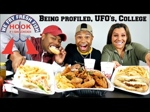 WE WERE RACIALLY PROFILED...  Hook's Fish & Chicken🐔🐟