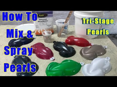How To Mix & Spray Pearl Paint - Metal Flake - Chameleon Color Shift - Dry Pearl Pigment