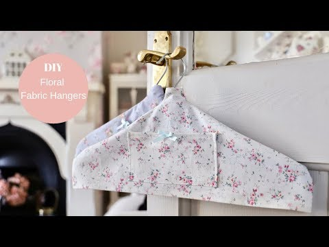 How To Make DIY Fabric Hangers