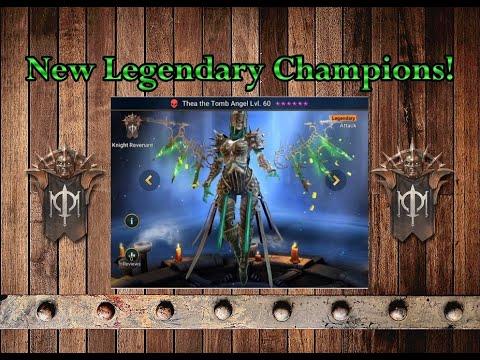 Raid Shadow Legends   New Legendary  Champions art, skills and multipliers!