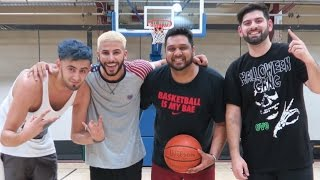 YOUTUBE BASKETBALL SHOWDOWN! (Adam Saleh and Slim vs QOP)