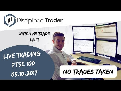 Live Day Trading (Indices/Forex) - 5th October 2017 - A Tricky Day