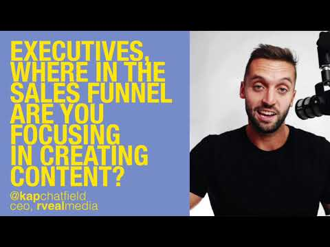 50% of content was created for the top of the sales funnel