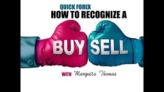 Quick FOREX how to recognize A buy & Sell in the Market With Money Maker Marquita Thomas