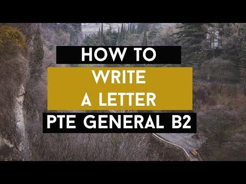 How to write a Letter for the Pearson Test of English