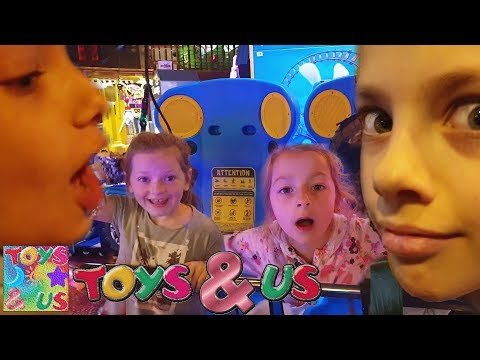 Kids Reaction On Virtual Reality Machine And Playing On Machines In Blackpool At Coral Island