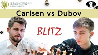 Super fast opening play from Dubov | Magnus Carlsen vs Daniil Dubov | World Blitz 2019 |