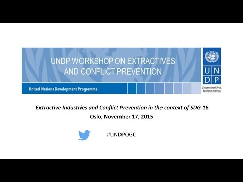 UNDP Workshop on Extractive Industries and Conflict Prevention