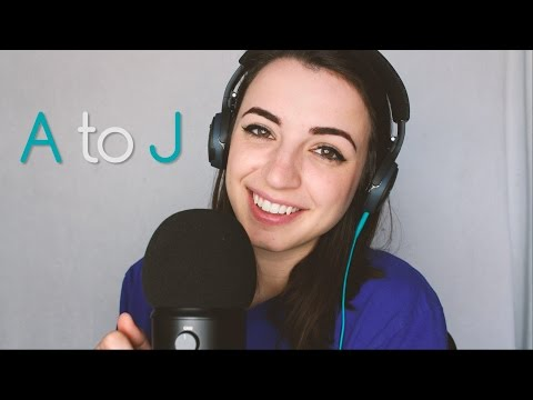 [ASMR] Whispering Your Name - A-J Name Trigger ASMR (April Edition)