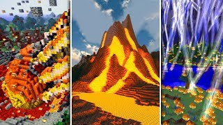 INSANE MINECRAFT NATURAL DISASTERS!! (Volcanoes, Blizzards, Meteors)