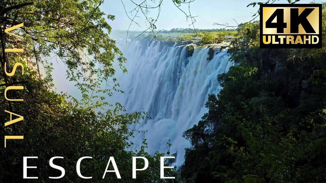 5 Hour Meditation Music Nature Sounds, Relaxing Music, Calming Music, Healing Music - Victoria Falls