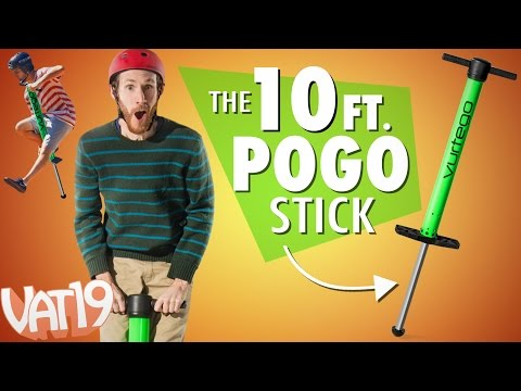 Thumbnail: Bounce 10 ft. high with this pogo stick!