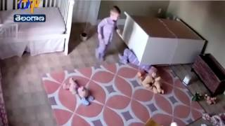 2 Year Old Saves Twin Brother From Fallen Dresser in Incredible Moment | Watch
