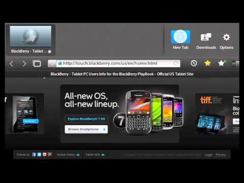 Tips for using the BlackBerry PlayBook Browser