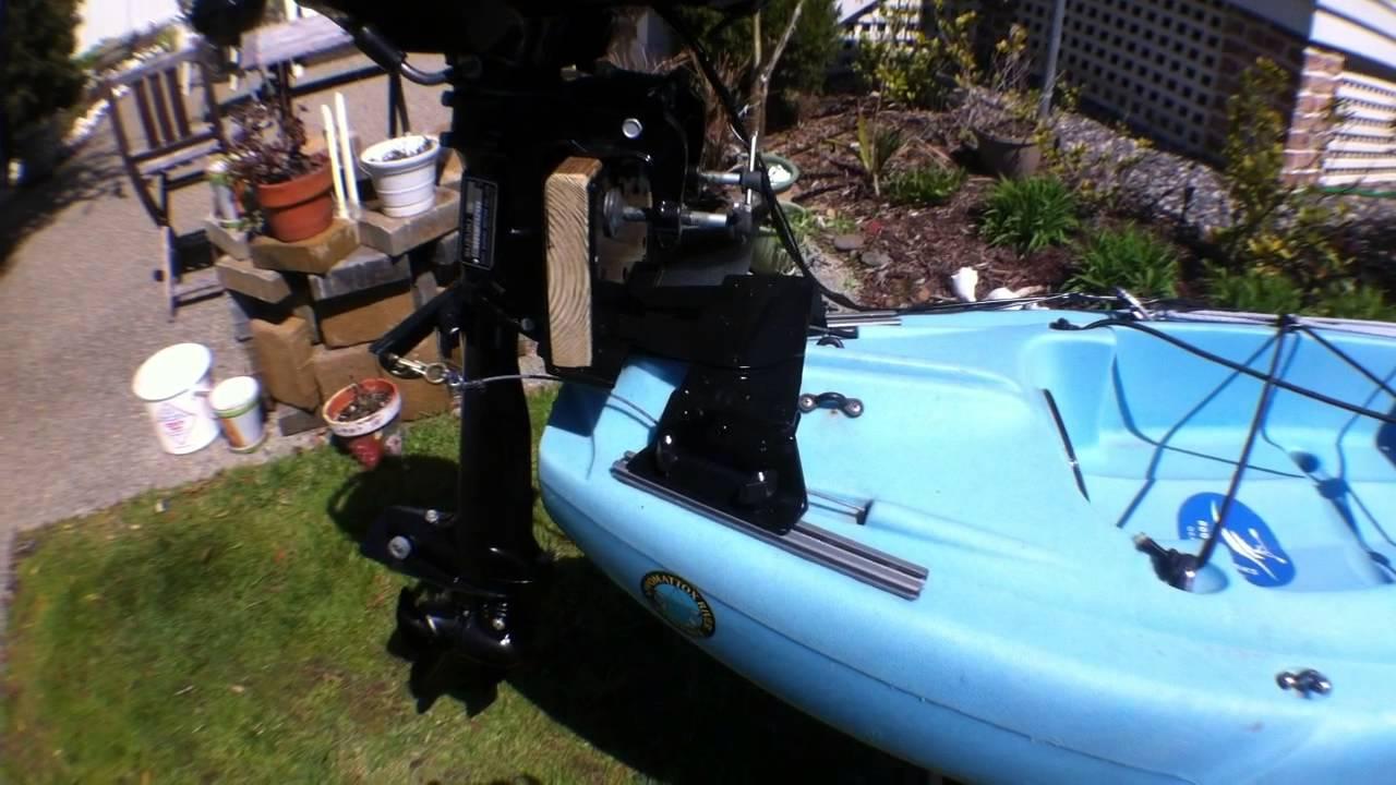Kayak Outboard Motor Mount Youtube