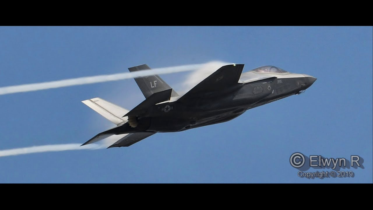 The F-35A Lightning II,  jaw-dropping maneuvers