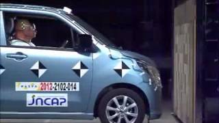 Crash Test 2012 - Suzuki Wagon R / Mazda Flair ( Full Frontal) Jncap