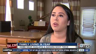 Las Vegas family living in fear after home shot twice