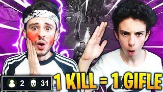 1 KILL = 1 GIFLE PAR MON PETIT FRÈRE sur FORTNITE: Battle Royale !! 😱 (EPIC RÉACTION)