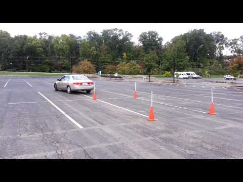 Ohio Drivers licence maneuverability test(cones)