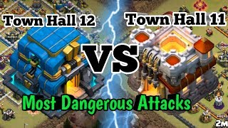Th11 Vs Th12 Most Dangerous Attacks in 2019|| Clash of clans Th11 Vs Th12 War Attacks 2019.
