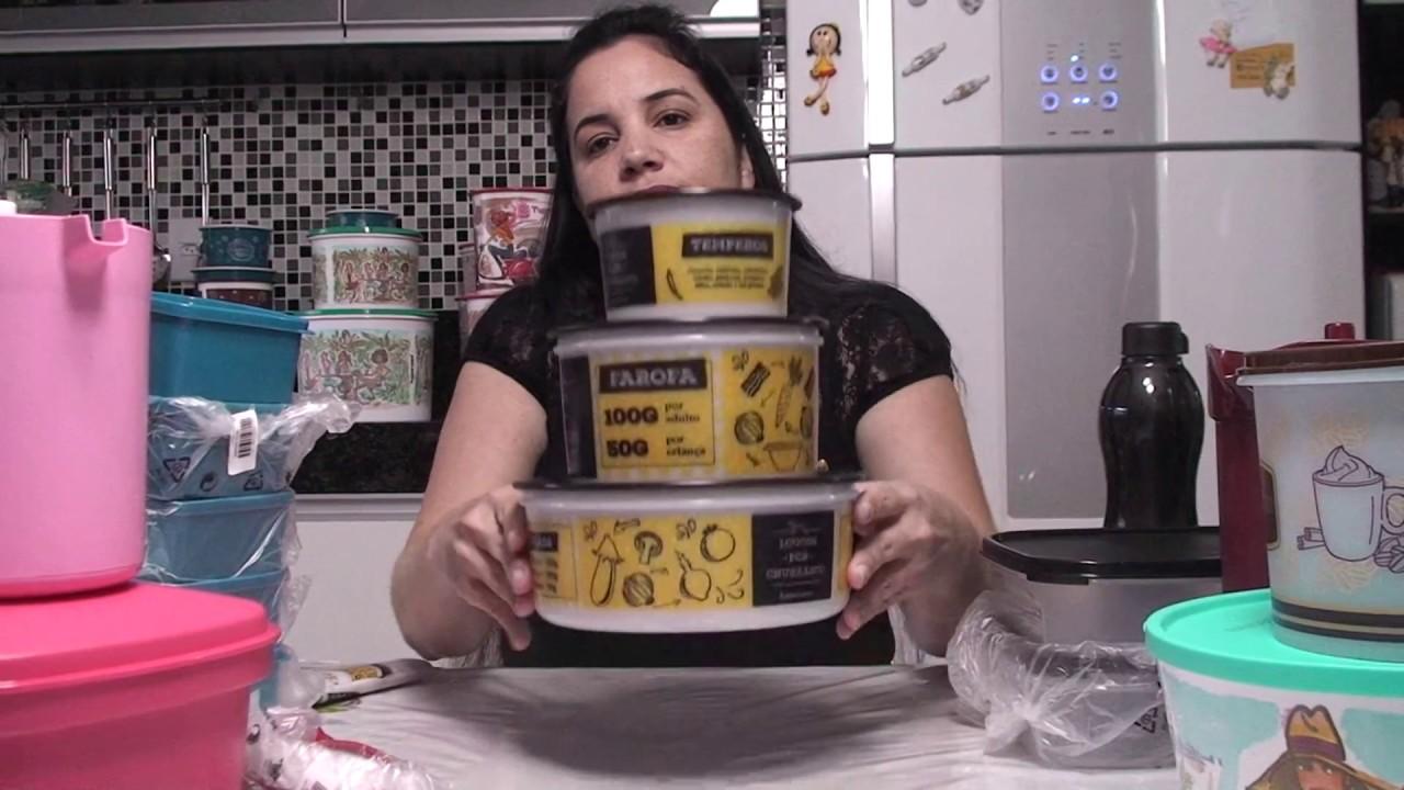 Abrindo Caixa Tupperware Semana 25 2017 Vitrine 7 Youtube