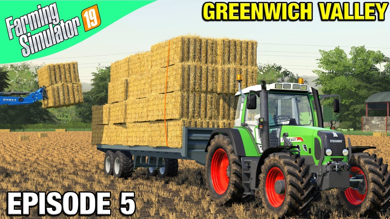 NEW TRACTOR DOING BALES Farming Simulator 19 Timelapse – Greenwich Valley FS19 Ep 5